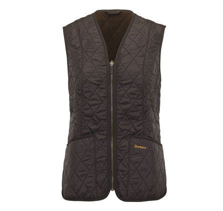 barbour fleece betty liner dark brown