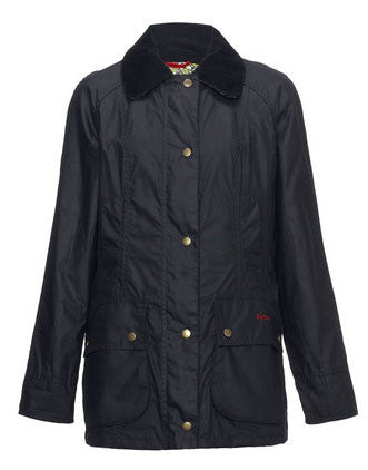 barbour hope beadnell waxed jacket navy
