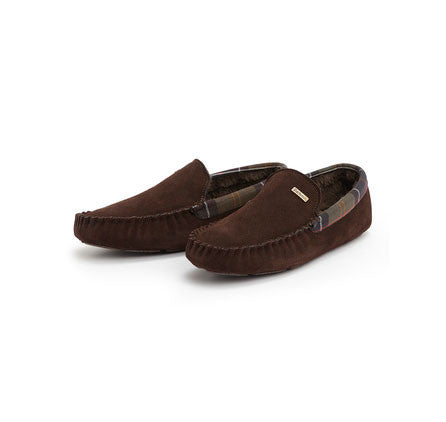 Barbour Monty mens slippers brown