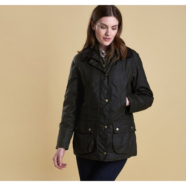 Barbour Ashley Wax Jacket - Olive