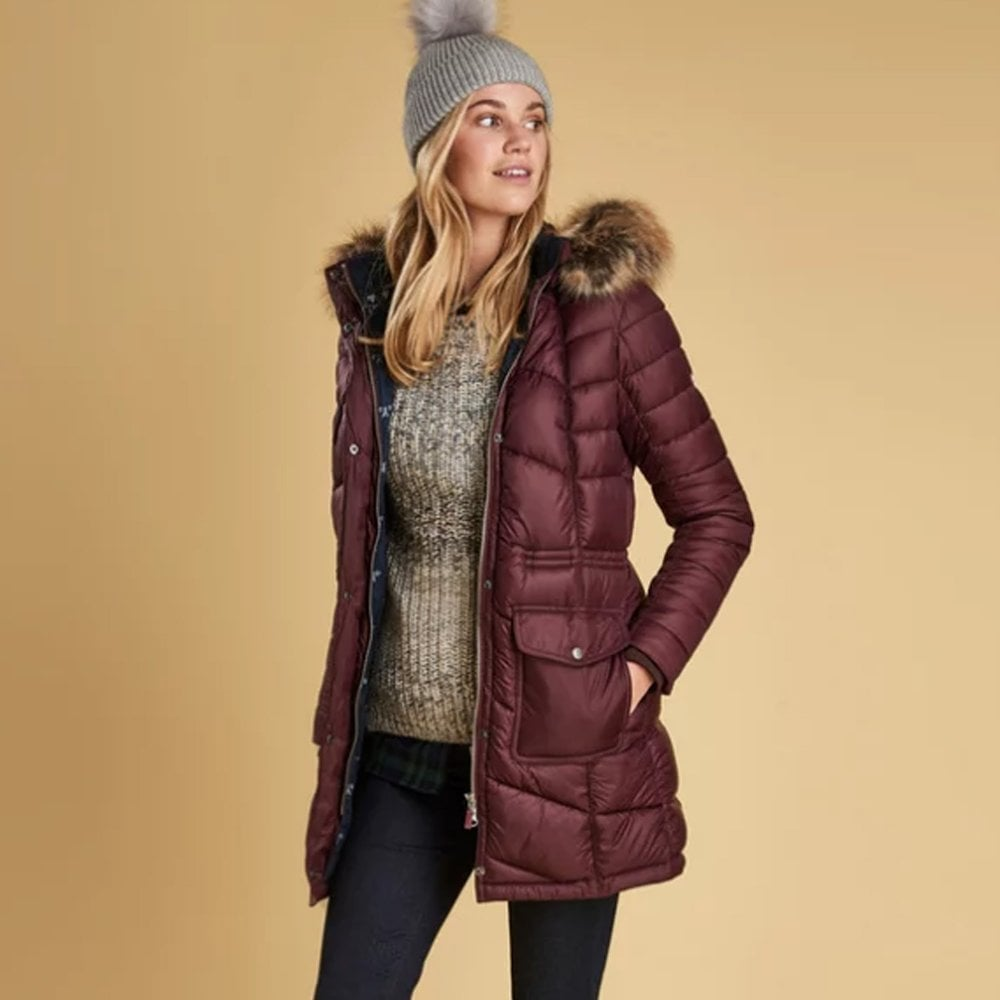 Barbour Hamble Quilted jacket - Purple