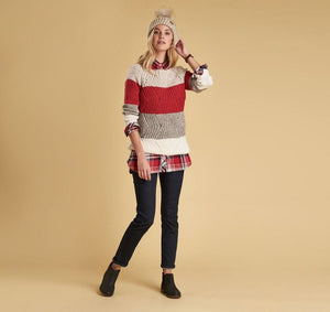 PADSTOW KNIT CHILI RED