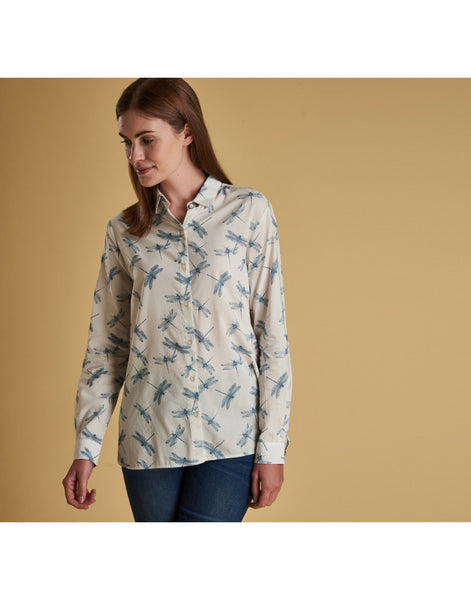 Barbour Bowfell Shirt - White Dragonfly