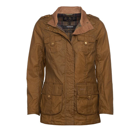 Barbour Defence Lightweight Wax jacket Sand