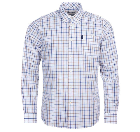 Barbour Tattersall 13 tailored shirt Sandstone