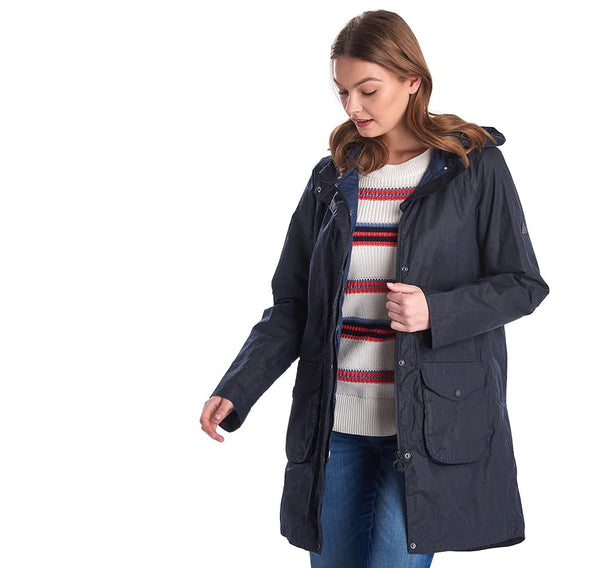 Barbour Updrift wax jacket - Navy