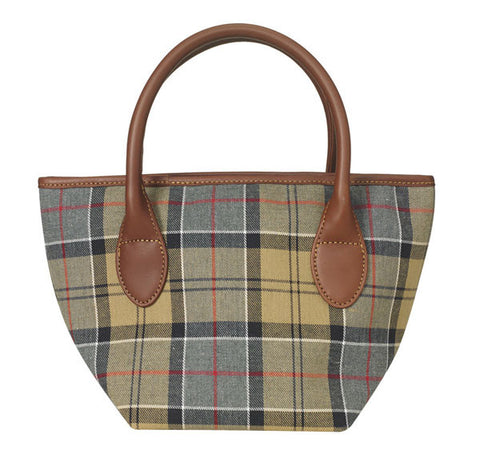 barbour dress tartan tote bag