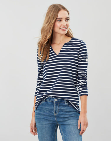 Joules Harbour Notch Neck Jersey Top
