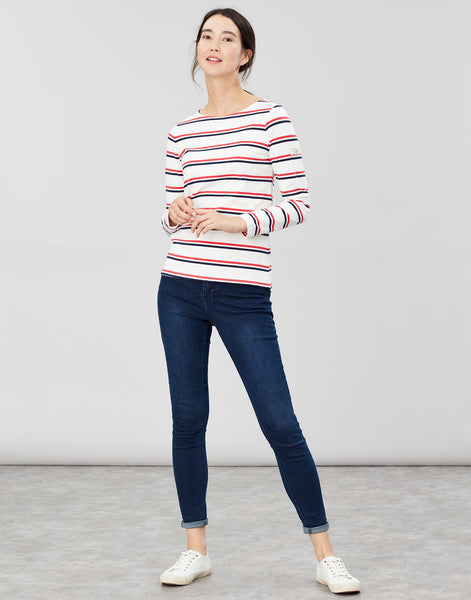 Joules Harbour Long Sleeve - Cream, Red and Blue Stripe
