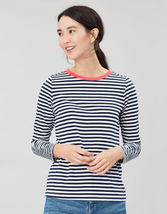 Joules Selma Long Sleeve Jersey - Navy and Cream Stripe