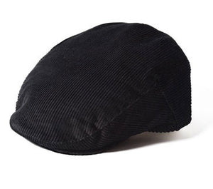 Failsworth concord corduroy cap in black