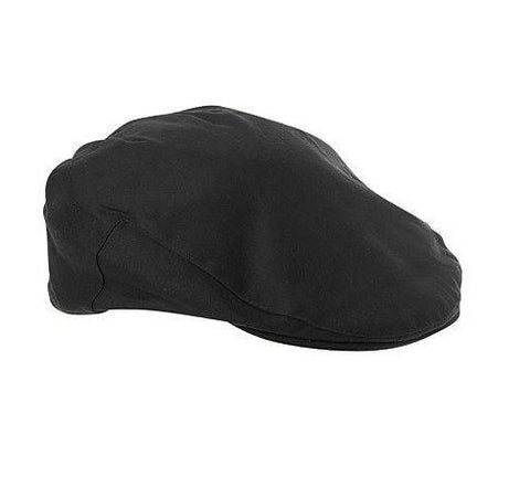 Waxed Flat Cap - Black