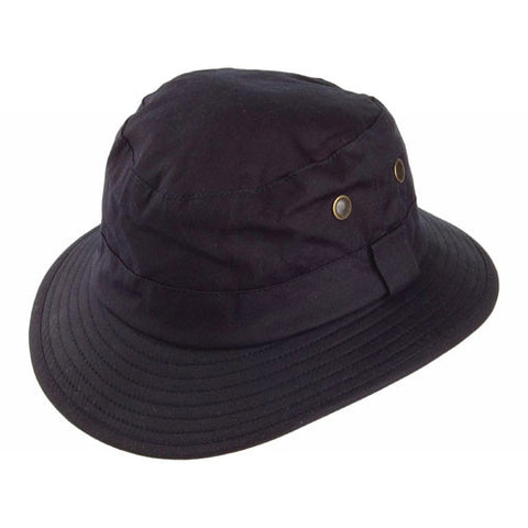 Failsworth waxed fishermans hat in navy