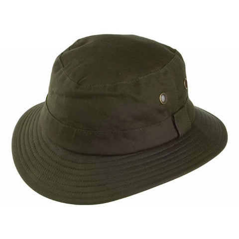 Failsworth waxed fishermans hat in olive