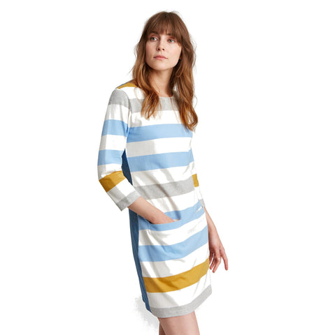 Joules Jade thick striped dress