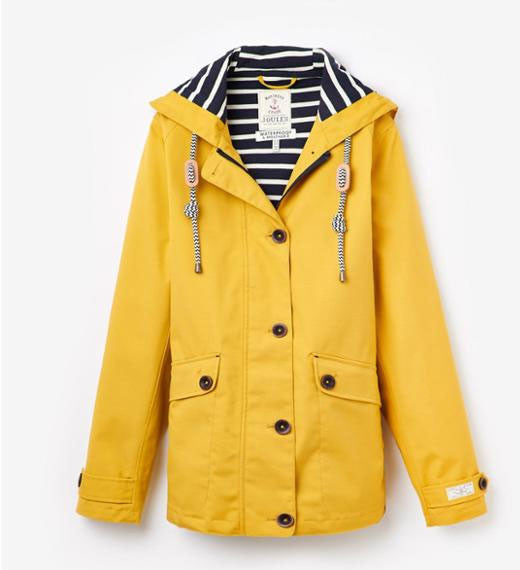 Joules coast waterproof jacket antique gold