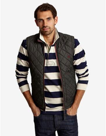 Loftham mens gilet - dark everglade green
