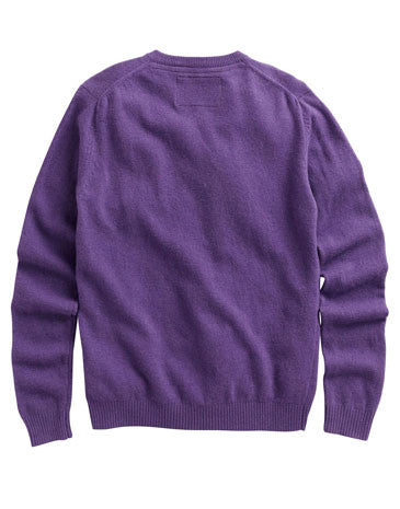 Retford v neck jumper - dark purple