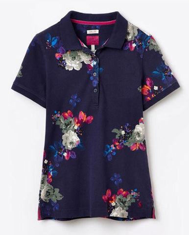 Joules Trinity polo shirt in navy floral