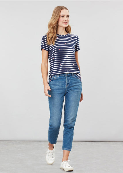 Joules Carley Print top - Daisy stripe