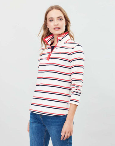 Joules Fairdale sweatshirt Cream red blue stripe