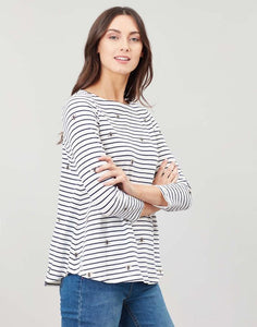 Joules Harbour Light swing jersey top - Bee stripe