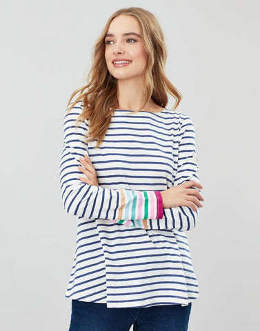 Joules Harbour Light Swing long sleeve jersey top Multi stripe