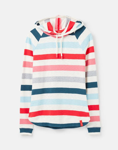 Joules Marlston sweatshirt Cream pink stripe