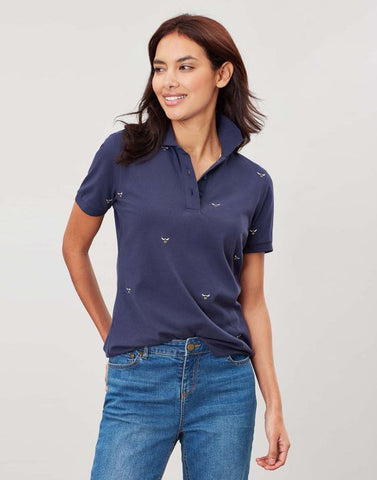 Joules Pippa printed polo shirt - Navy bee