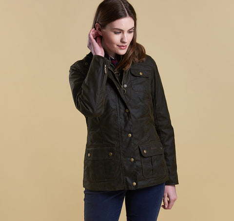 Barbour Ashley Wax Jacket OLIVE