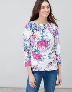 Harbour Print Jersey Top - Cream Floral