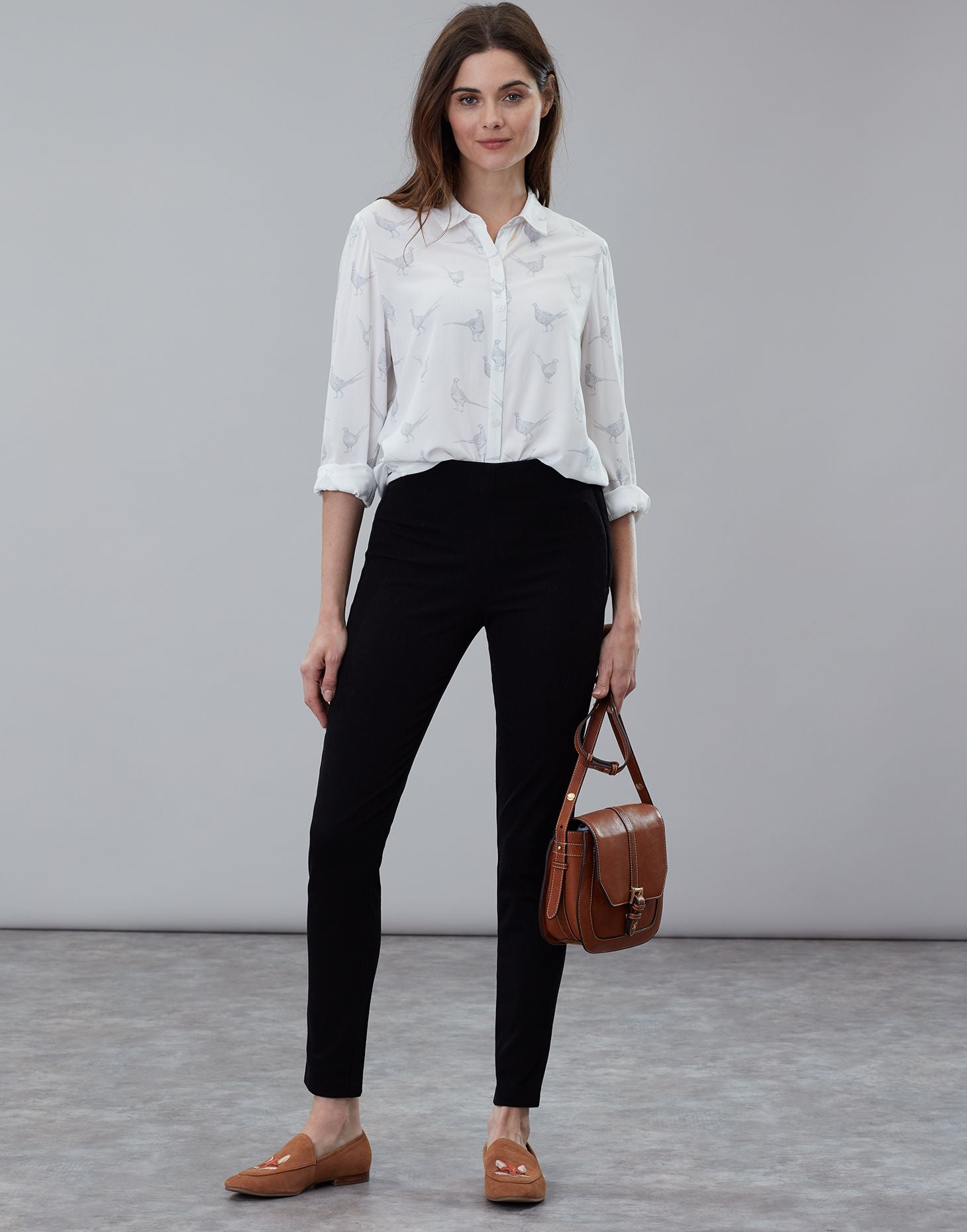 Hepworth Black Pull On Stretch Trousers