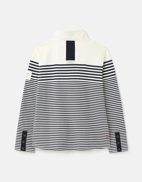Saunton Sweatshirt Navy Cream Stripe