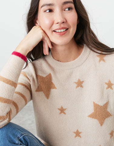 Chantelle Star Stripe Knitted Intarsia Jumper
