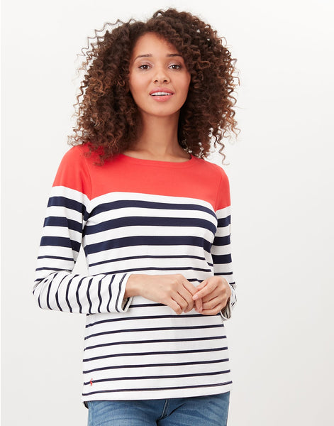 Harbour Red Stripe Long Sleeve Jersey Top
