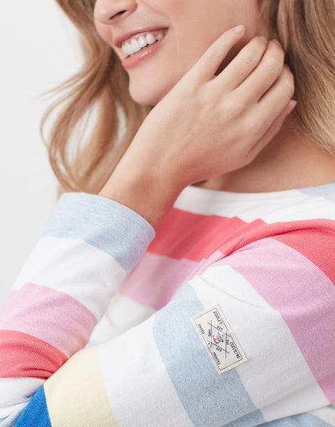 Harbour Long Sleeve Jersey Top in Multi Colour Stripe