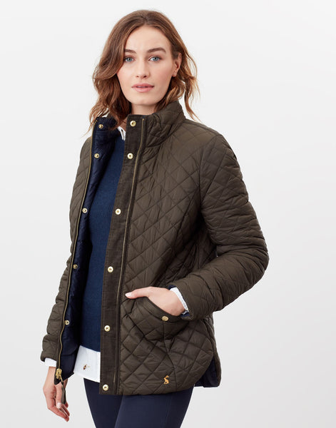 Highgrove Reversible Quilted Jacket in Heritage Green