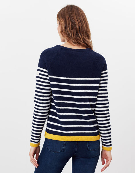 Seaport chenille Jumper in Navy Stripe
