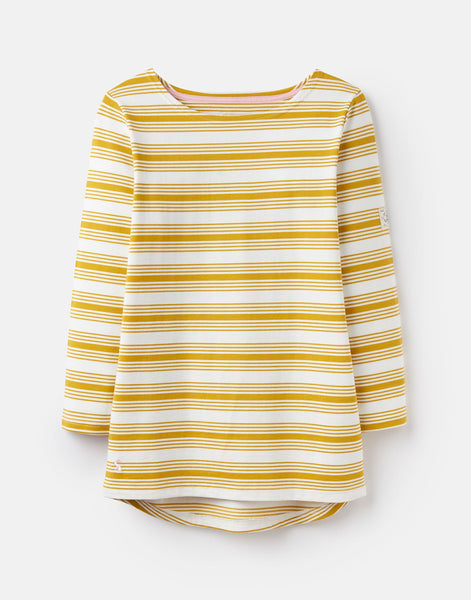 Joules Harbour Jersey Top -  Gold Stripe