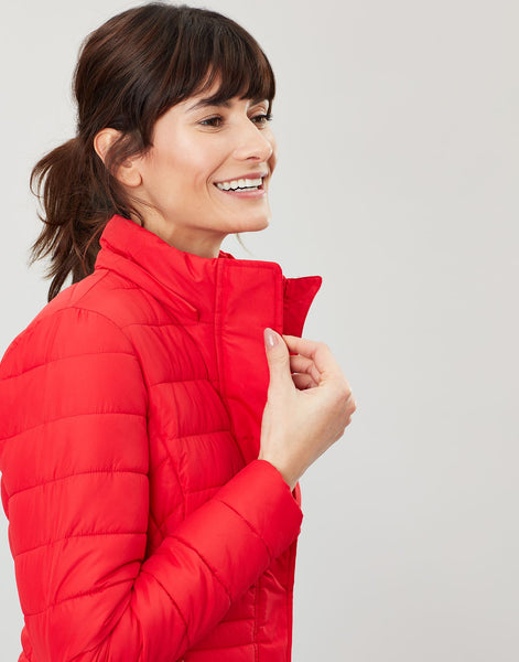 Linden Padded Coat in Red