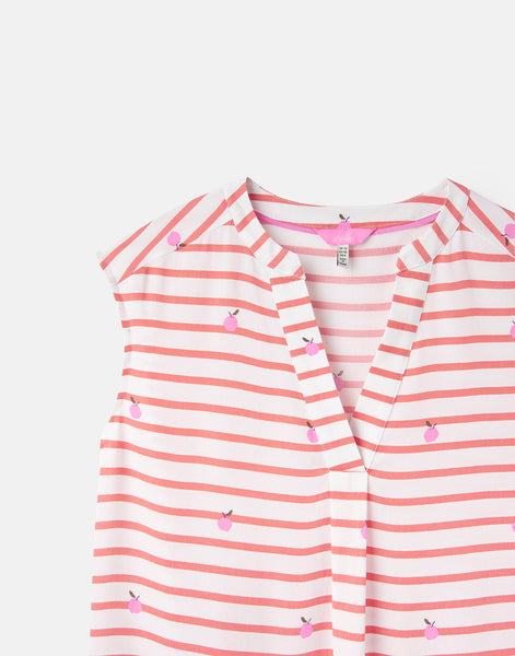 Joules Jae sleeveless top - Orange stripe