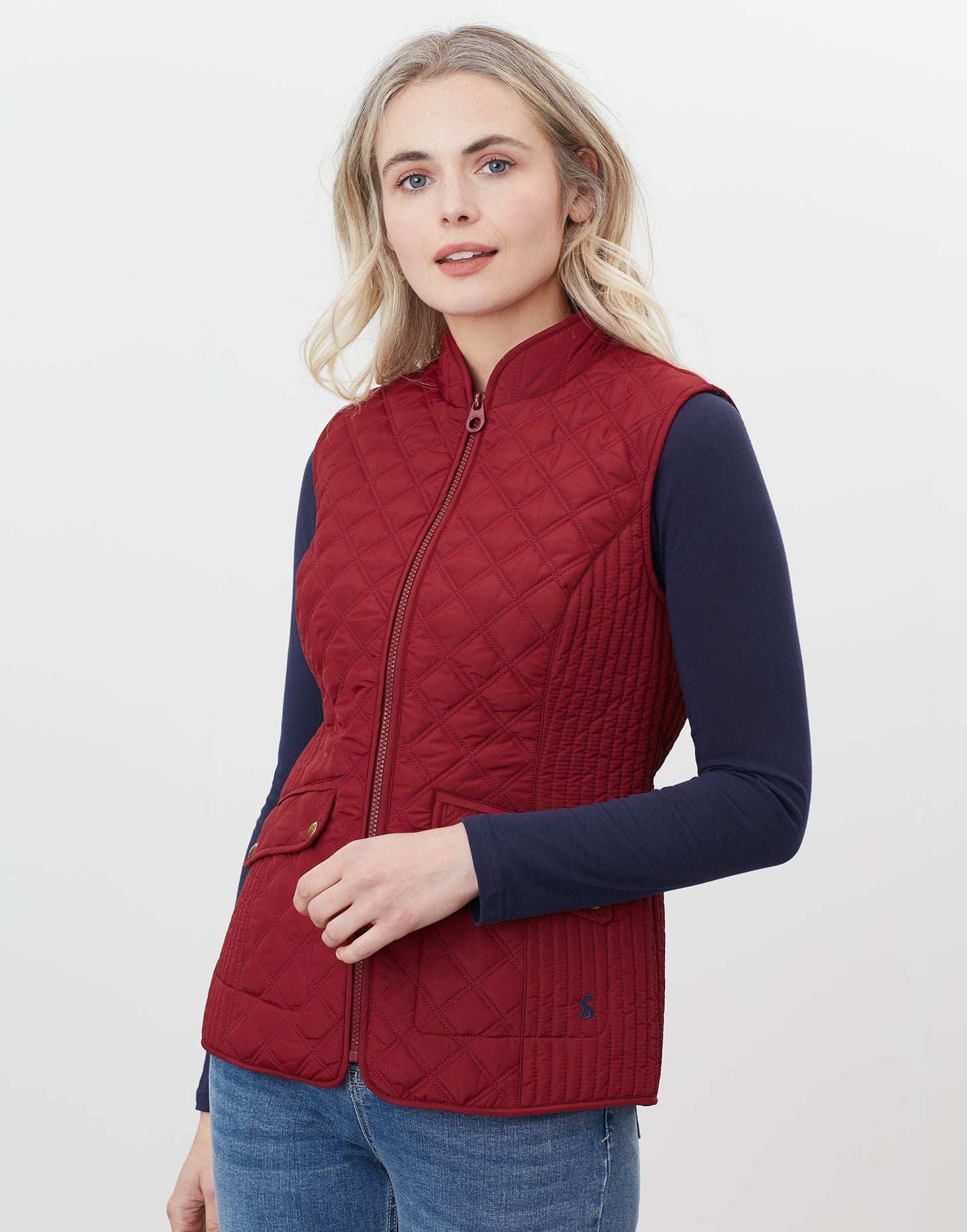 Minx Quilted Gilet in Burgundy