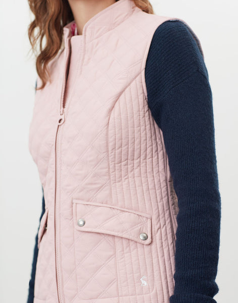 Minx null Quilted Gilet Pink