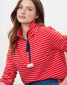 Pip Red Casual Half Zip Sweatshirt