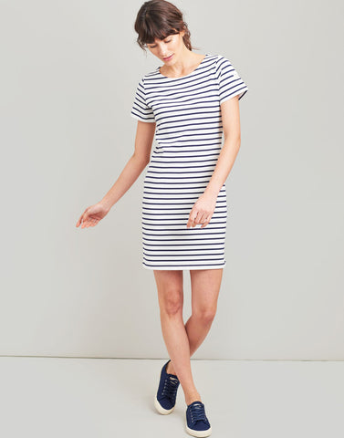 Riviera Cream & Navy Stripe