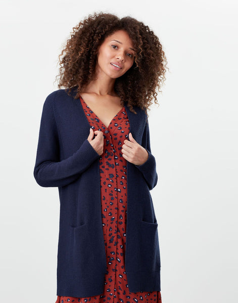 Nola French Navy Knitted Cardigan