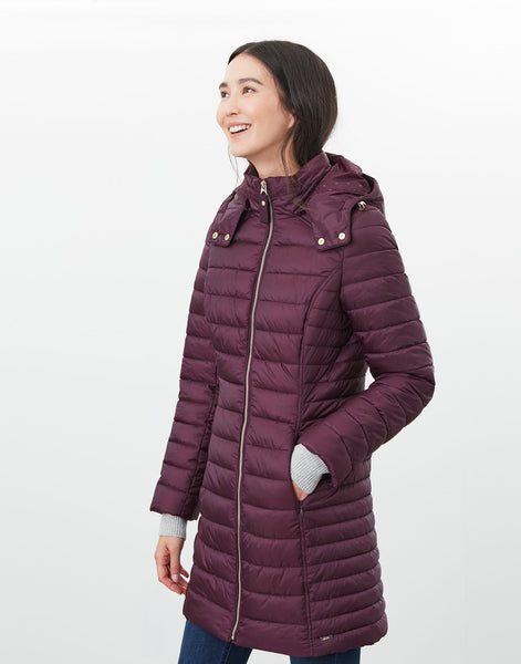 Canterbury Long Padded Jacket in Plum