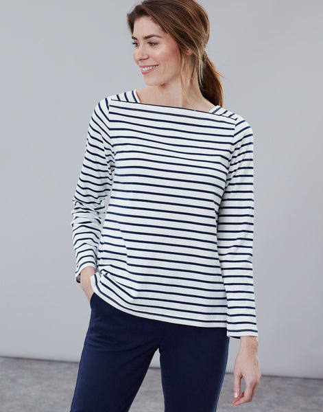 Joules Matilde top - Cream Navy Stripe