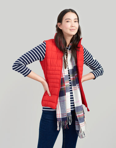 Joules Fallow Gilet - Red