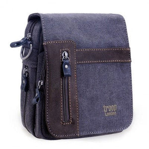 Troop London classic canvas across body bag trp0366 in black
